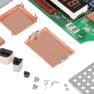 PCB- skardines, tarpikliai, korpusai ir klipai