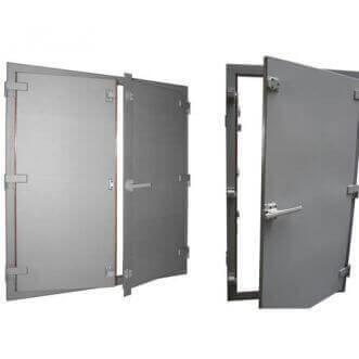 EMI / RFI-ekranuoti Faradėjaus gardele duris